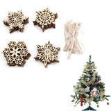 10 x wooden snowflake coaster decorations