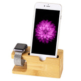 Natural bamboo charging station for iPhone