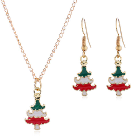 Christmas necklace & earrings set