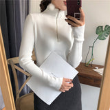 Autumn zipper sweater for women