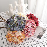 Artificial hydrangea flowers - set of 2