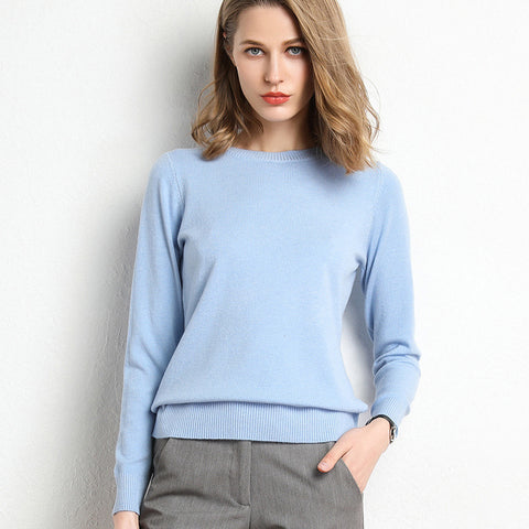 Soft knitted sweater for women