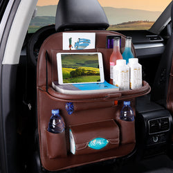 Foldable car seat organizer