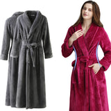 Coral fleece warm bathrobe