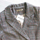 Vintage plaid blazer for women
