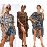 Leopard irregular loose dress