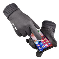 Sports anti-slip touch screen gloves