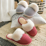 Home warm plush slipper