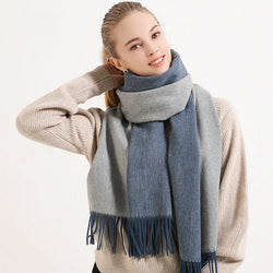 Wool winter scarf for women