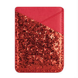 Sequin stick-on smart phone card holder