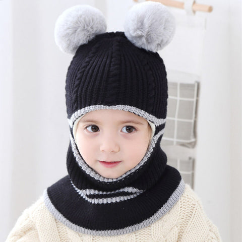 Cute hat with warm lining for children