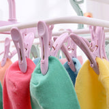 Folding drying rack with 12 clips