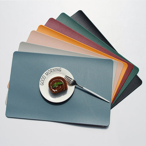 Faux leather PVC placemat set of 2 or 4 pcs