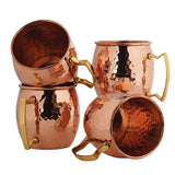 Hammered copper plated stainless steel Moscow Mule mug
