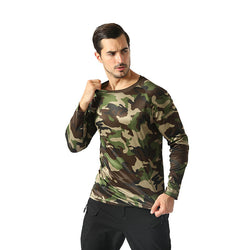 Camouflage long sleeve top for men