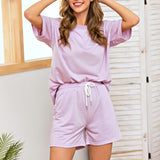 Casual short sleeve two-piece tracksuit