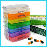 7 week day vitamin & pill container