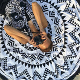 Round boho beach towel