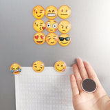 13 piece cute 3D Emoji fridge magnets