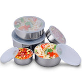 5 x stainless steel lunch box mixing bowl set