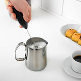 Handheld automatic milk frother machine