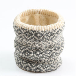 Warm knitted ring scarf