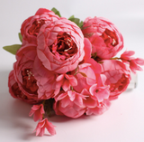 Artificial peony bouquet