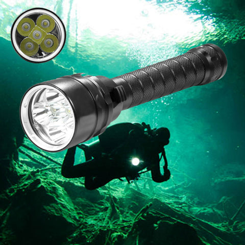 5*T6 waterproof diving flashlight