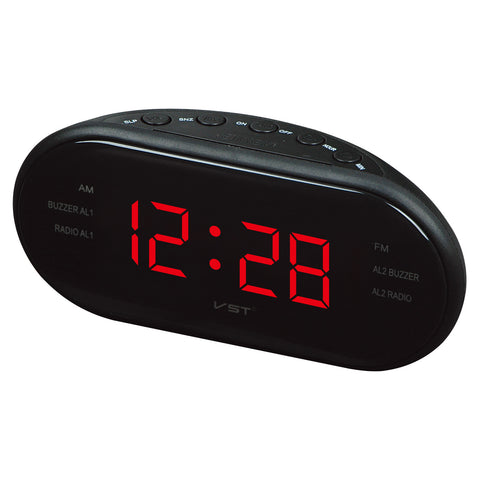 Alarm clock dual frequency radio