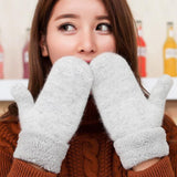 Warm & soft furry gloves