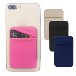 Stick-on mini pouch for smart phones set of two