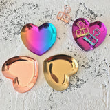 Heart shape mini ceramic trays