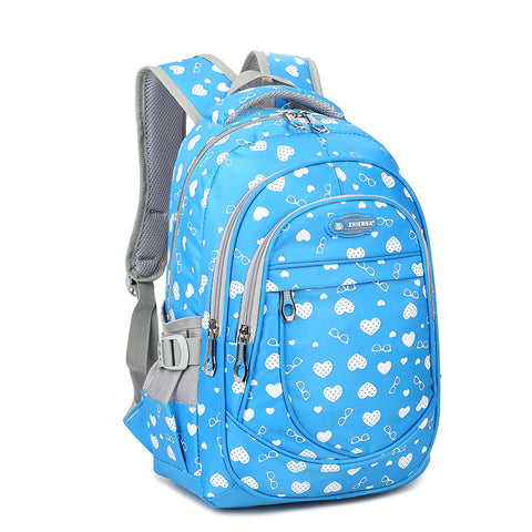 Hearts printed school backpack