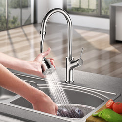 Flexible faucet sprayer attachment