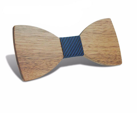 Hand made wooden bow tie