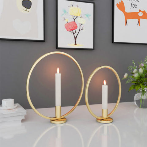 3D circle metal candle holder
