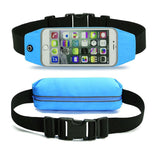 Adjustable touch screen waist bag