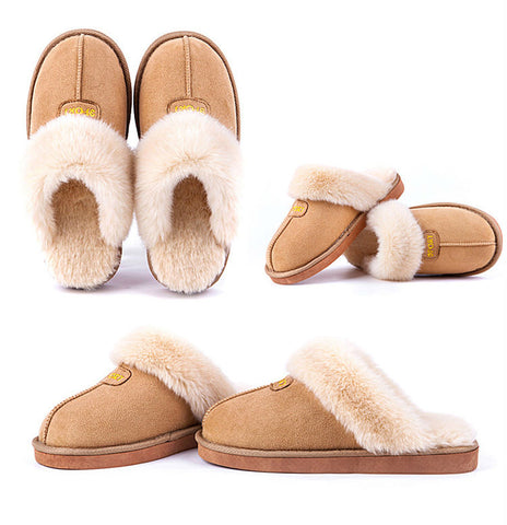 Plush slippers for home