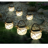 Glass jar solar garden light