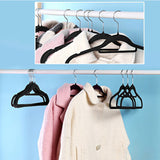Flocked coat hangers