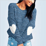 Knitted heart sweater