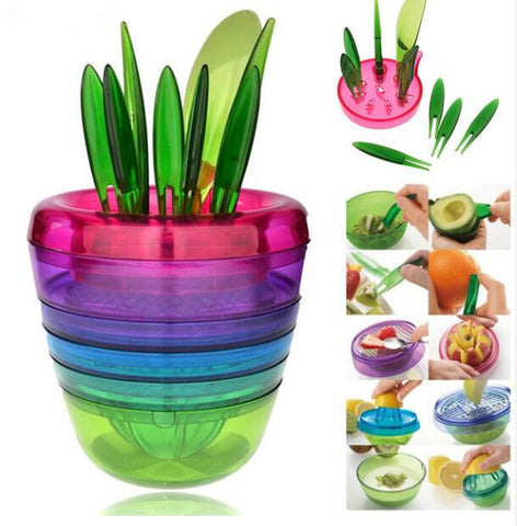 Colorful kitchen tool set