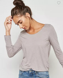 Sheer summery long sleeve top