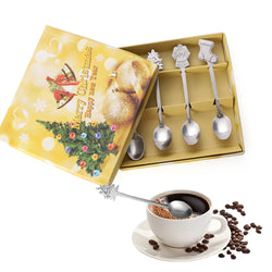 Christmas coffee spoons set of 4 pcs
