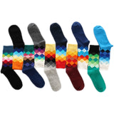 Funky chequered socks for men 5 pairs