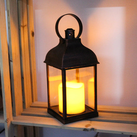 Vintage lantern with LED candle