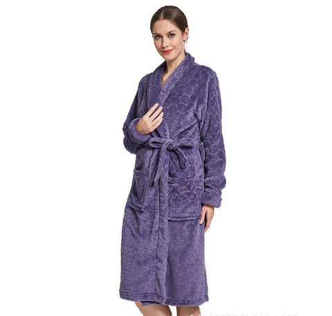 Coral fleece bathrobe for women