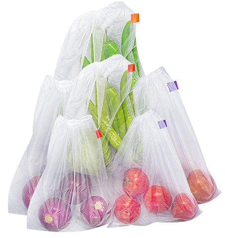 3 size reusable eco-friendly mesh grocerie bags