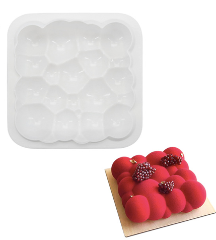 3D bubble flower geometric shapes silicone cake mould