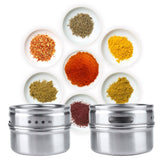 6 magnetic herb & spice jars